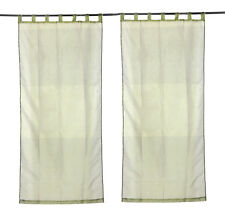 Indian Solid Window Curtain Living Room Treatment Drape Panel