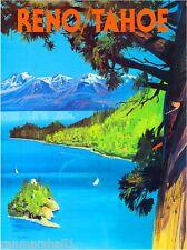 Reno Tahoe California Nevada United States Travel Advertisement Art Poster