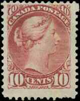 Canada #40 mint F NG 1877 Queen Victoria 10c dull rose lilac Small Queen
