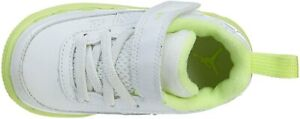 NEW! NIKE AIR JORDAN GIRLS AJF 9 (PS) WHITE/LIIME TODDLERS  SIZE 5C (353328 111)