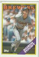 FREE SHIPPING-MINT-1988 Topps Robin Yount Milwaukee Brewers PLUS BONUS CARDS