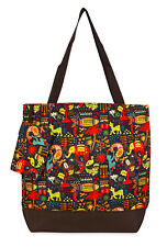 Jenzys Ethnic Jungle Womens Travel Tote Bag Purse Handbag Shopping Gym School