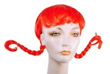 ADULT PIPPY COUNTRY GIRL WENDYS LACEY RED BRAIDED TAILS WIG COSTUME ACC LW272RD
