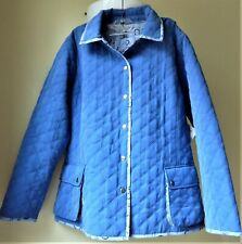 Connoisseur Soft Shell Quilted Reversable Equestrian Women's M Jacket Blue NWT