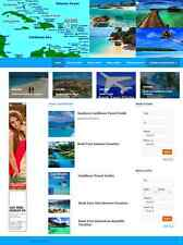 PROFESSIONAL CARIBBEAN TRAVEL WEBSITE BUSINESS FOR SALE! MOBILE RESPONSIVE SITE