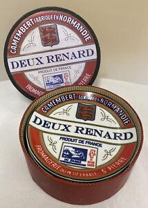 FOUR BIA INTERNATIONAL CHEESE BISTRO PLATES /DEUX RENARD /CAMEMBERT PLATE (D3GA)