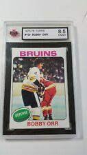 1975 TOPPS Bobby ORR #100  Boston Bruins NHL Card KSA 8.5