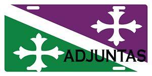 """ADJUNTAS Flag Puerto Rico Municipio 6"""" X 12"""" License Plate Boricua Emblem II"""