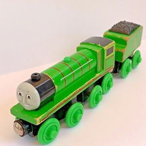 Thomas The Train Engine & Friends Wood HENRY and HENRY'S TENDER Wooden Railroad
