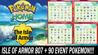 The Isle of Armor DLC Pokemon Pack All 807 + 90 Event Pokemon Shiny!!