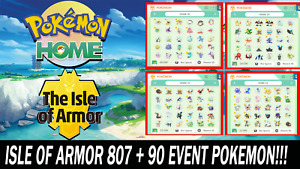 The Isle of Armor DLC Pokemon Pack All 807 + 90 Event Pokemon Shiny!!