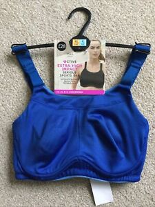 M&S Size 32C Extra High Impact Serious Sports Bra Blue Ultimate Bounce Reduction