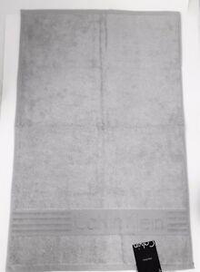 "NEW CALVIN KLEIN ICONIC LIGHT GRAY,SILVER COTTON BATH, BEACH TOWEL-30""x56"""