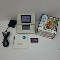 Nintendo DS Original Console Bundle White W/ Stylus Pen Charger & 6 Games