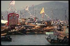 120099 adornada porquerías estrechamente amarrado en Cheung Chau Isla A4 Foto Impresión
