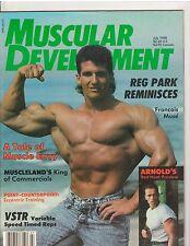 MUSCULAR DEVELOPMENT bodybuilding magazine Francois Muse/Arnold/Reg Park 7-88