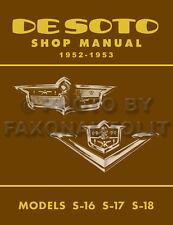 1952-1953 DeSoto Shop Manual Firedome Powermaster De Soto Repair Service Book