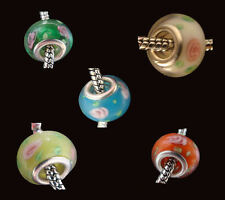 5 x European Mix Couleur perles LAMPWORK MURANO GLASS Charm Bead