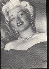MARILYN MONROE earrings necklace diamond postcard carte postale cp AK 4
