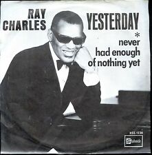 7inch RAY CHARLES yesterday HOLLAND +PS EX BEATLES COVER