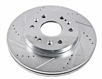Left Power Stop AR8722XL Cross Drilled and Slotted Performance Brake Rotor