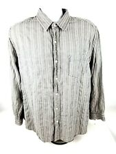 Lucky Brand Mens 2XL Long Sleeve Button Front MultiColor Striped Shirt