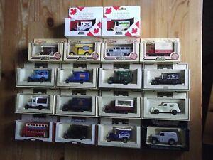 Job Lot of 18 pcs Lledo Days Gone Vintage Models, mixed vehicles/brands/liveries