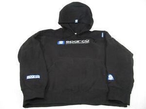Sparco WWW Black Hoodie Sweatshirt Pullover Hoodie Large 100% Cotton Genuine NEW