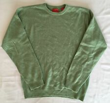 CHEAP SALE Men IZOD Cashmere Crew Sweater Pullover Top Long Sleeve Green M