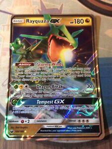 Pokemon TCG - RAYQUAZA GX - Half Art - Ultra Rare - Celestial Storm 109/168