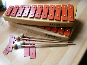 Sonor Glockenspiel NG10 Sopran mit Schlägel, Metallophon Xylophon Orff Marimba