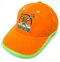 Hard Core Hunter Baseball Hat Cap Orange Green Adjustable Deer Buck Embroidered