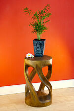 Side Table Flower Stand Plant Stool Plant Stand Columns Acacia Solid Wood