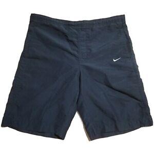 VTG 90s Gray Tag NIKE Swim Trunks Shorts Mesh Lined Polyester Swim Men's Medium