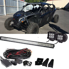2017-2018 CAN-AM MAVERICK X3 Commander 800 1000 40''  LED LIGHT BAR +Pods+remote