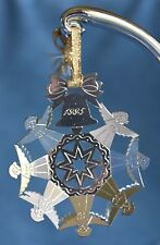 Vintage ANGEL SNOWFLAKE BELL CHRISTOFLE Silver FRANCE 95 Christmas Tree Ornament