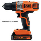 BLACK & DECKER LDX220C 20 Volt MAX* Lithium 20V Cordless 2 Speed Drill Driver
