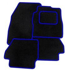ALFA ROMEO 156 Su Misura Nero Tappetini Auto con finitura blu