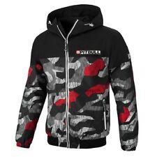 Pit Bull West Coast Jacket Homelands 2 Black/Red Camo Windbreaker Pitbull Jacke