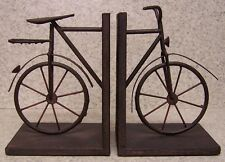 Bookends Medieval Industrial Revolution Antique Bicycle metal Pair Book Ends NIB