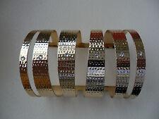 Jeremie Sion Paris Gold Plated Gladiator Swarovski Bangle Cuff Bracelet
