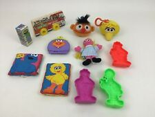 Sesame Street Toys Plush Cookie Cutters Book 11pc Lot Tyco Applause Vintage