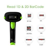 2.4G Wireless Bluetooth 2D Barcode Scanner Reader Compatible with iPad iPhone PC