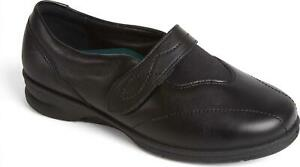 EEE//EEEE Shoes Black Patent Padders SPRITE 2 Ladies Comfort Super Extra Wide