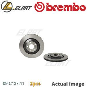 2X BRAKE DISC FOR VW AUDI BENTLEY CARA CEXB BAN BRN BTT AJS CPFA A8 4E2 4E8