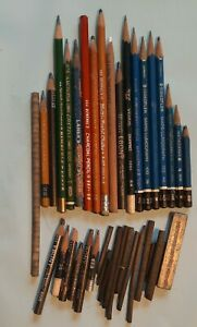 Mixed Lot used Charcoal Pencils Drawing/Sketching Graphite Staedtler General's
