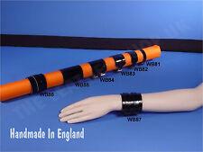 Kugel NEU Handgefertigt Leder Gothic Biker Armband Armband Made in England