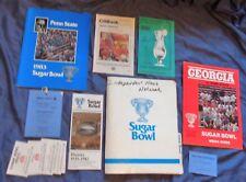 1983 Sugar Bowl (Penn State vs Georgia) Press Box Media Packet - Guide, Etc