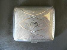 ancien étui à cigarette en métal argenté Alpacca