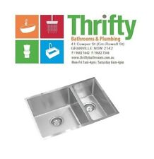 EVERHARD SQUARELINE PLUS ONE AND A HALF BOWL KITCHEN SINK STAINLESS STEAL